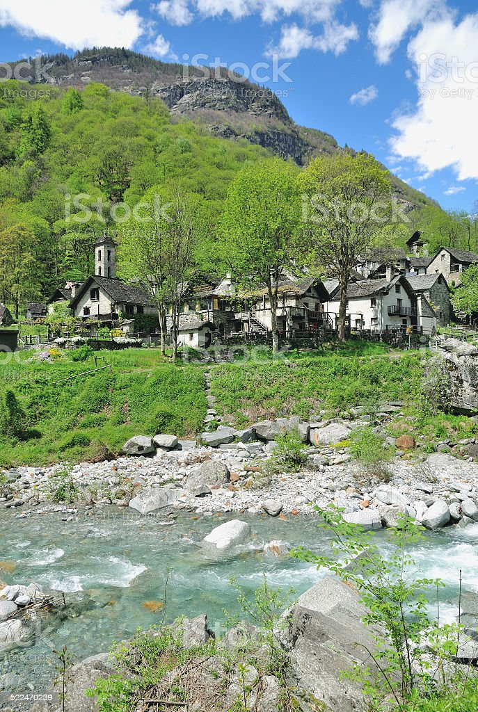 Foroglio,Bavona Valley,Ticino Canton,Switzerland stock photo