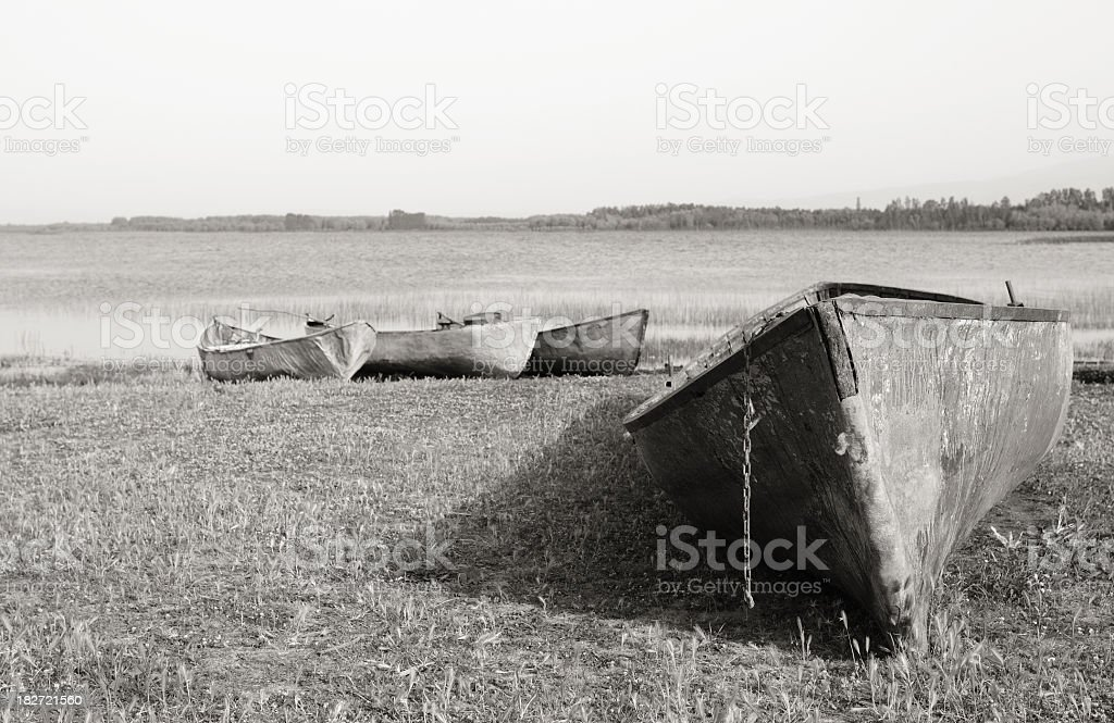 Forsaken boats stock photo
