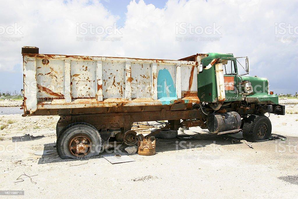 Forsaken Dump Truck royalty-free stock photo