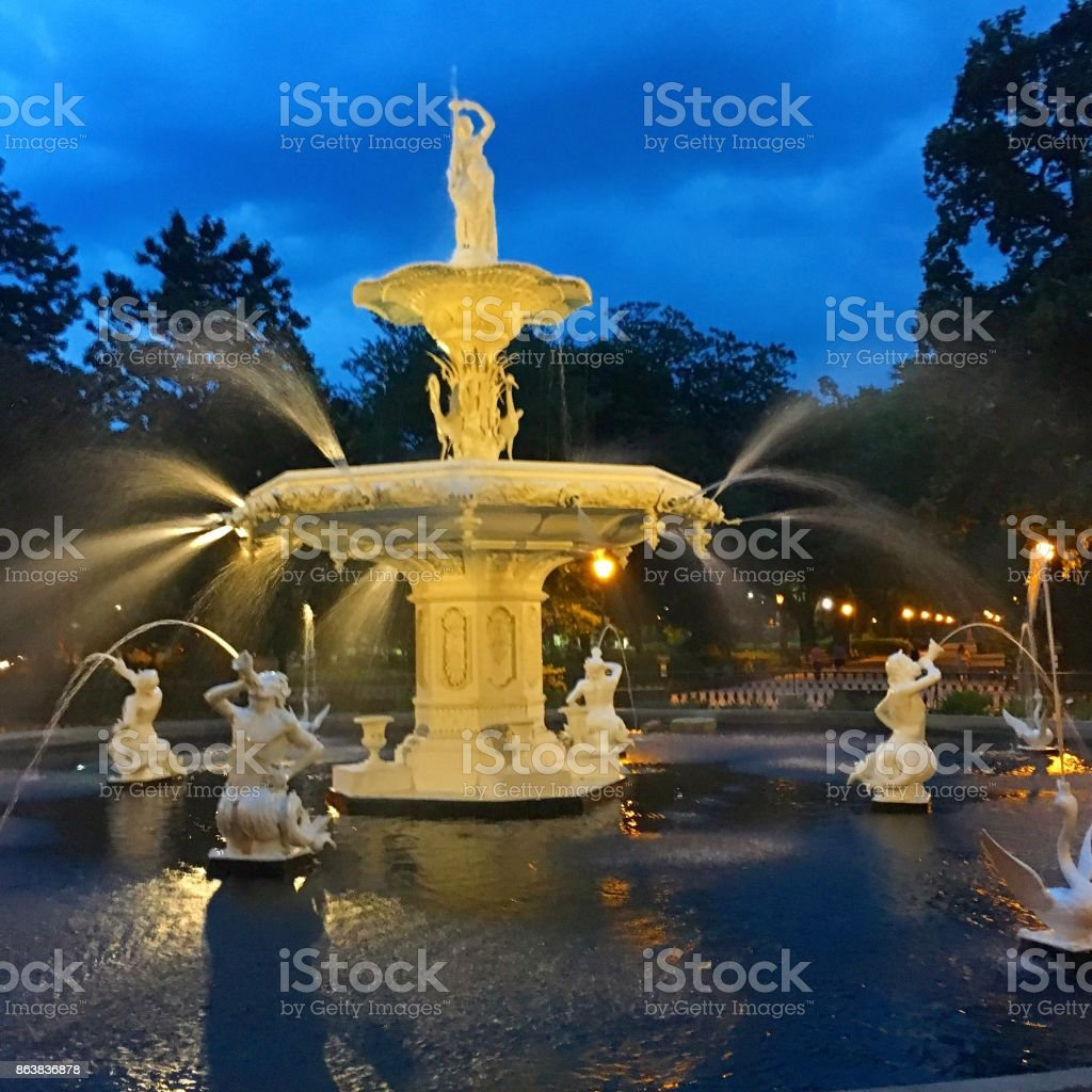 Forsyth Fountain stock photo