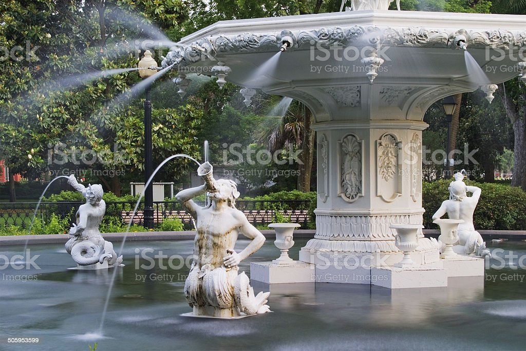 Forsyth Park Fountain stock photo