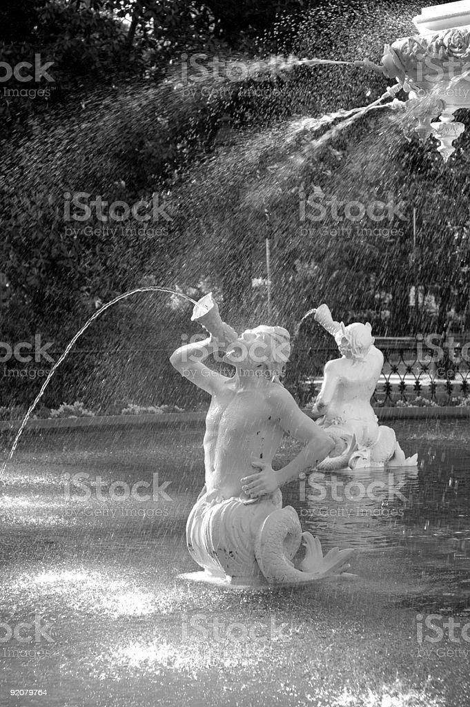 Forsyth Park Fountain, Savannah, Georgia, USA. stock photo
