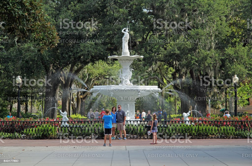 Forsyth Park stock photo