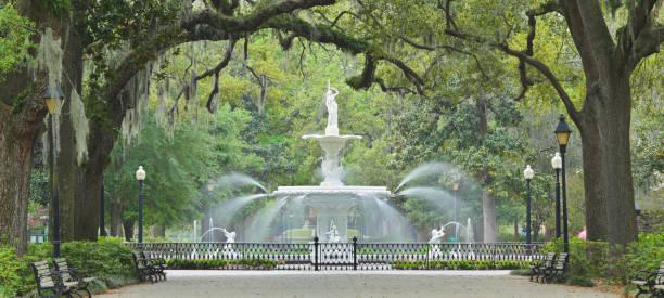 Forsyth Park - Savannah - Georgia stock photo