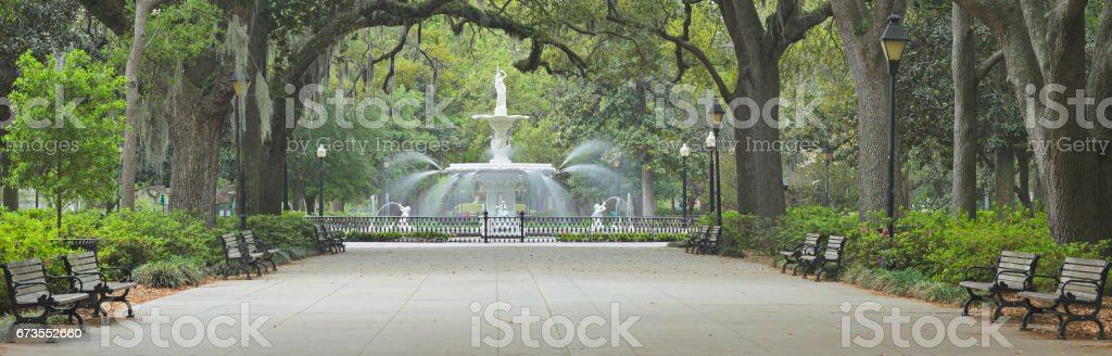 Forsyth Park - Savannah - Georgia stock photo
