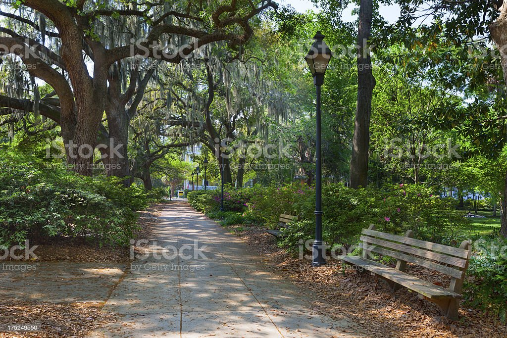 Forsyth Park, Savannah, Georgia, USA stock photo