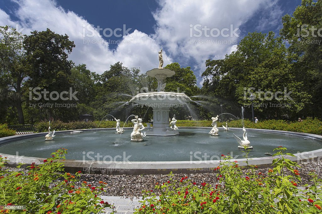 Forsyth Park, Savannah stock photo