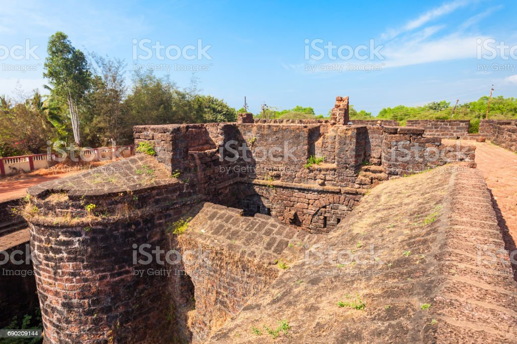 Fort Aguada in Goa stock photo
