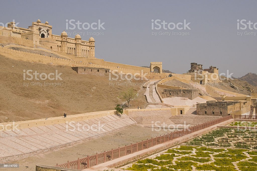 Fort And Garden royalty-free stock photo