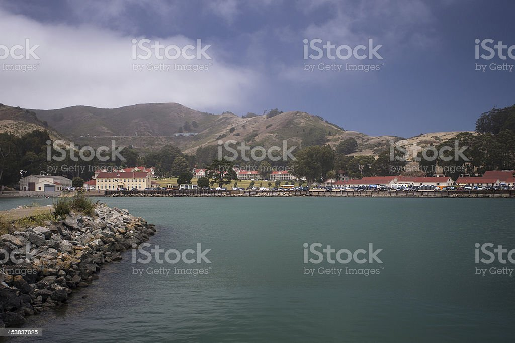 Fort Baker accross the water royalty-free stock photo