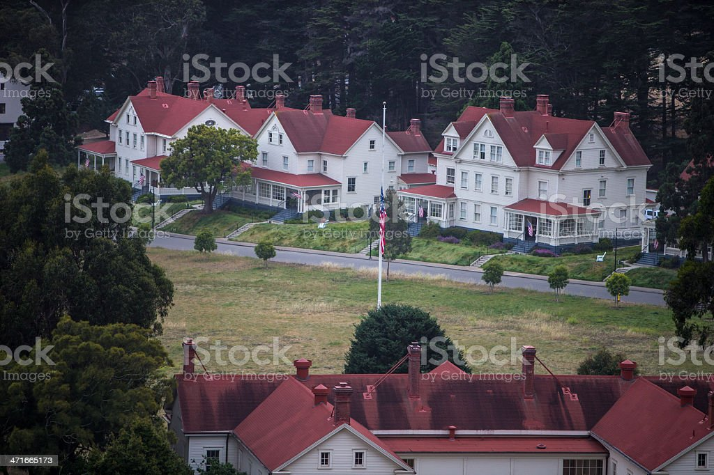 Fort Baker in Marin County royalty-free stock photo