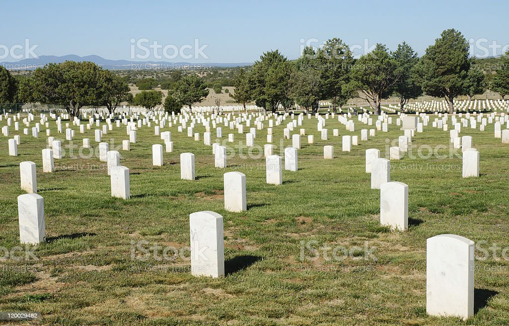 Fort Bayard National Cemetery stock photo