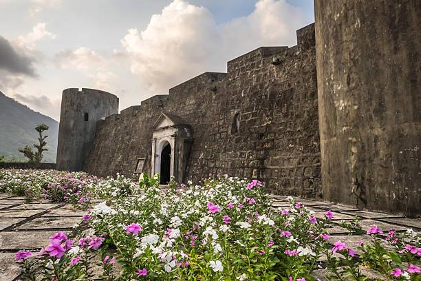 Fort Belgica on Bandaneira, Banda Islands, Indonesia stock photo