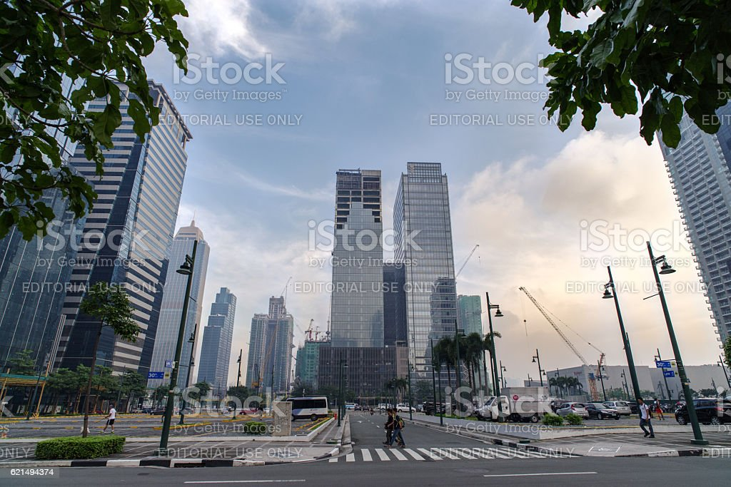 Fort Bonifacio,Manila Philippines foto stock royalty-free