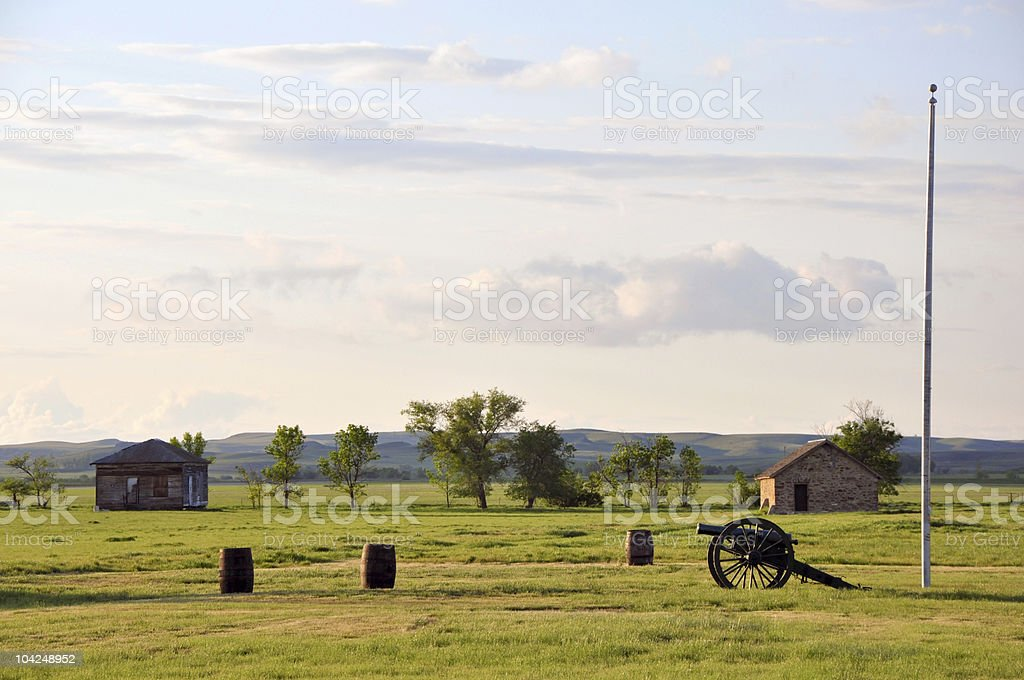Fort Buford historic site stock photo