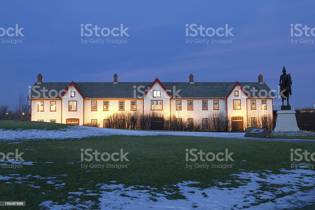 Fort Calgary. National Historic Site of Canada. stock photo
