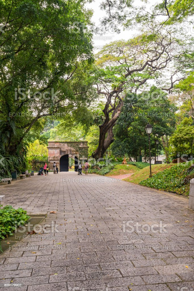 Fort Canning in Singapore stock photo