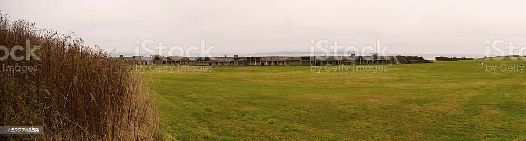 Fort Casey Wide Panorama stock photo