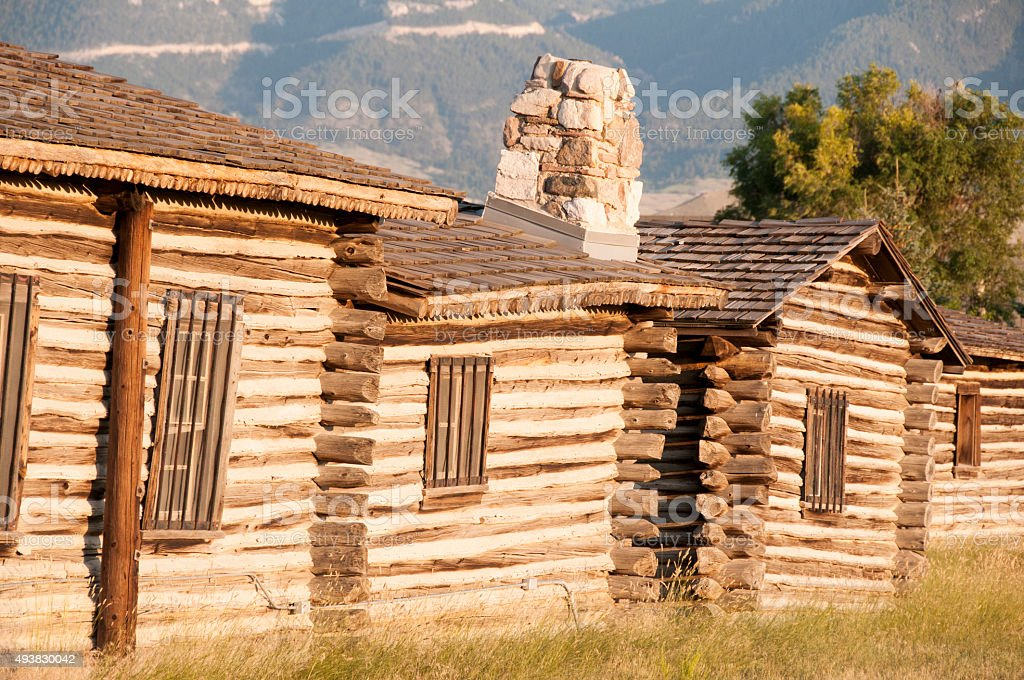 Fort Caspar, Casper, Wyoming stock photo