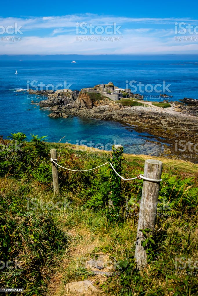 Fort Clonque, Alderney, Guernsey, Channel Islands stock photo