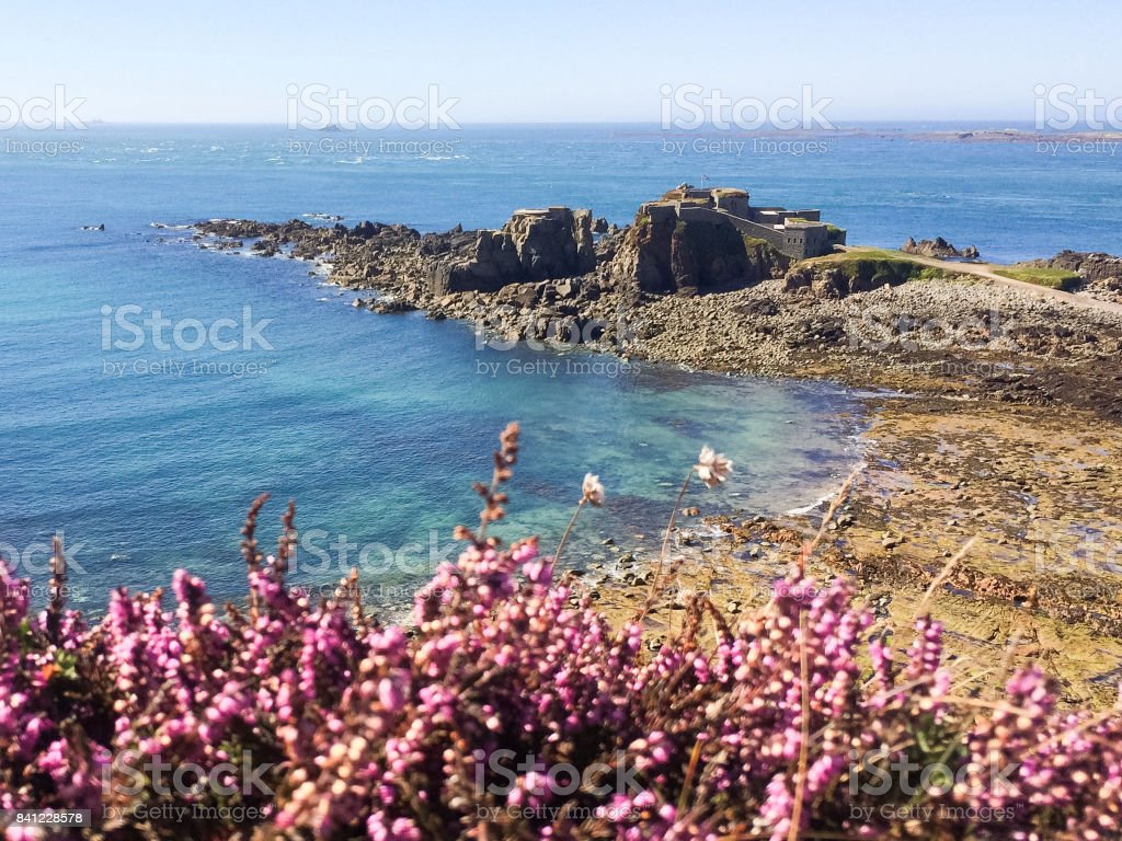 Fort Clonque, Alderney stock photo