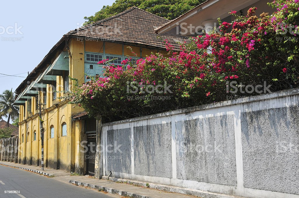 Fort Cochi wall royalty-free stock photo