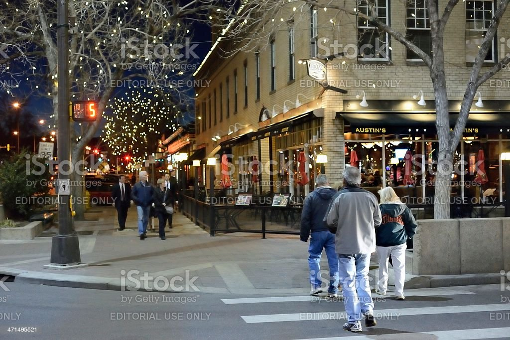 Fort Collins at Night royalty-free stock photo