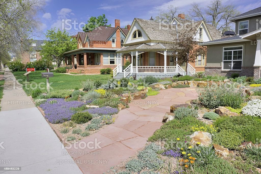 Fort Collins Neighborhood royalty-free stock photo