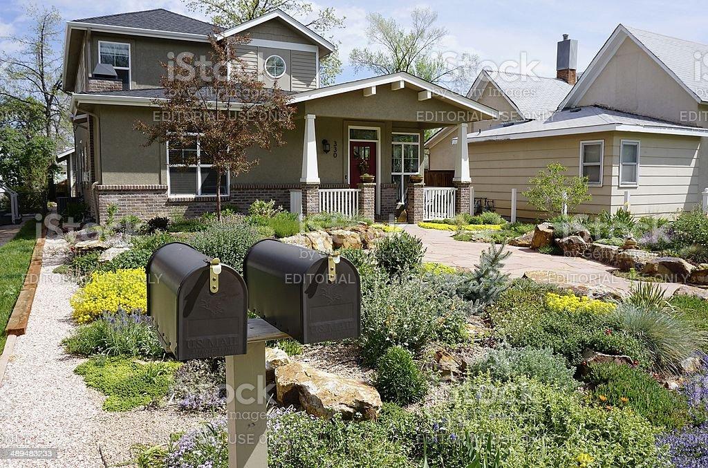 Fort Collins Neighborhood royalty-free stock photo