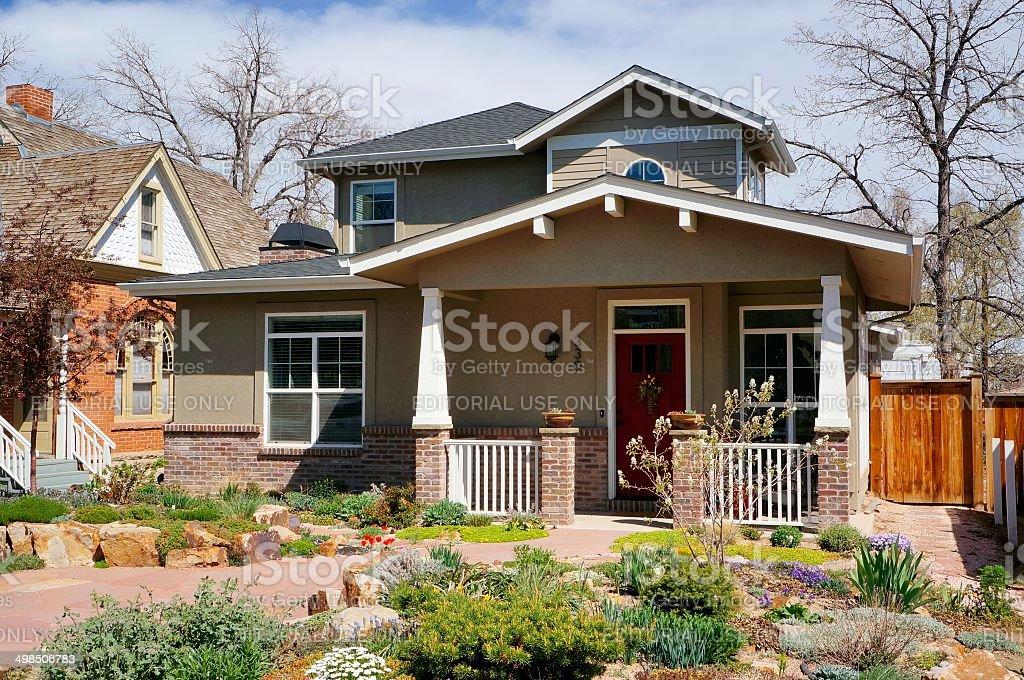 Fort Collins Neighborhood stock photo