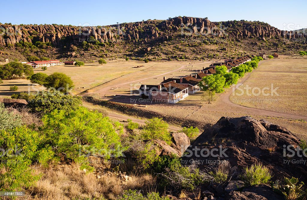 Fort Davis National Historic Site stock photo