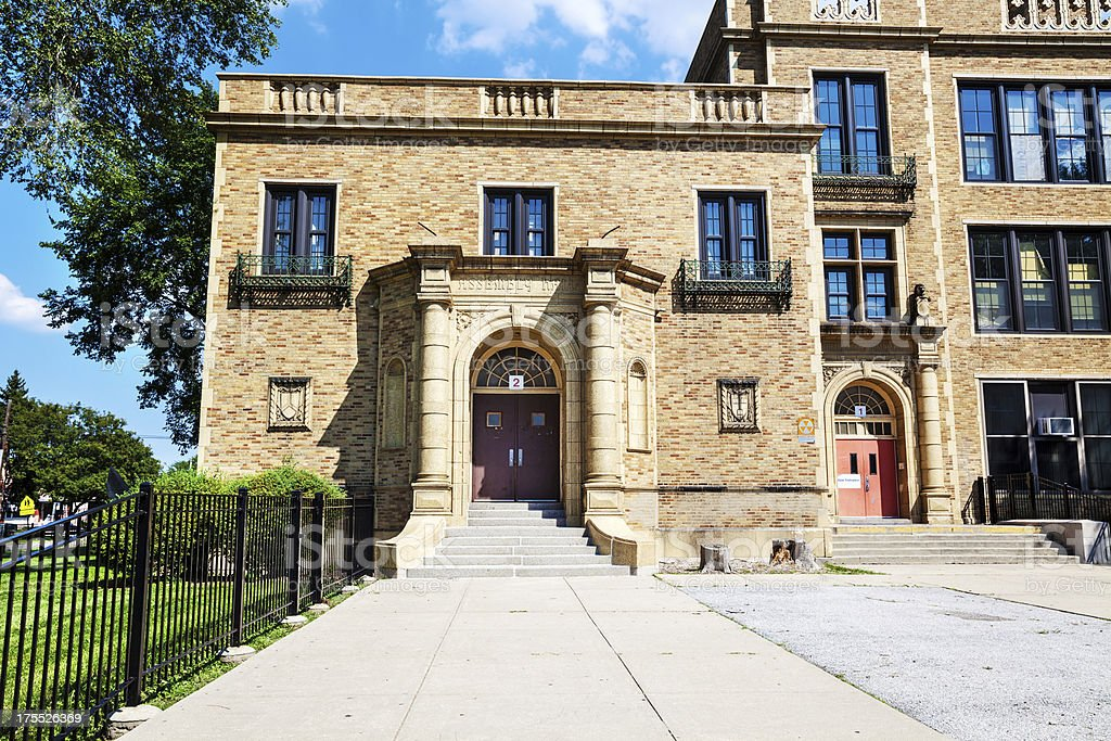 Fort Dearborn Elementary School,  Washington Heights, Chicago royalty-free stock photo