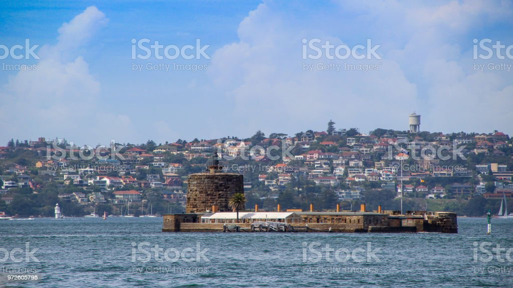 Fort Denison in Sydney stock photo