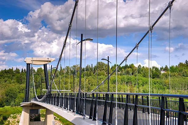 Fort Edmonton Park Foot Bridge stock photo