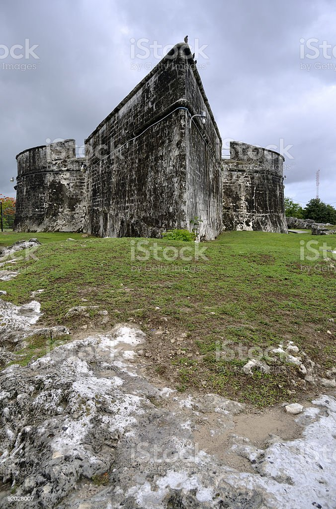 Fort Fincastle in Nassau, Bahamas royalty-free stock photo