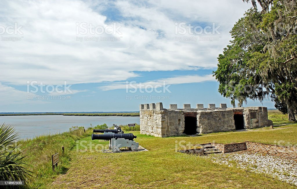 Fort Frederica National Monument on St. Simon's Island royalty-free stock photo