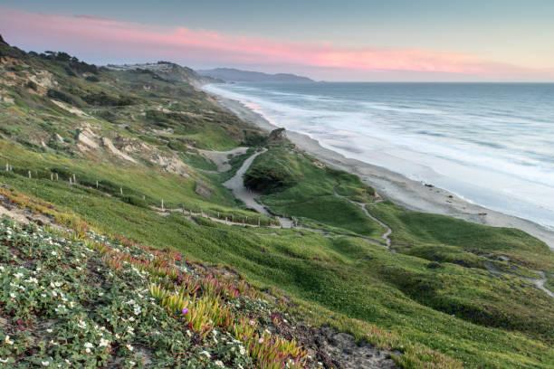 Fort Funston Coastal Sunset stock photo