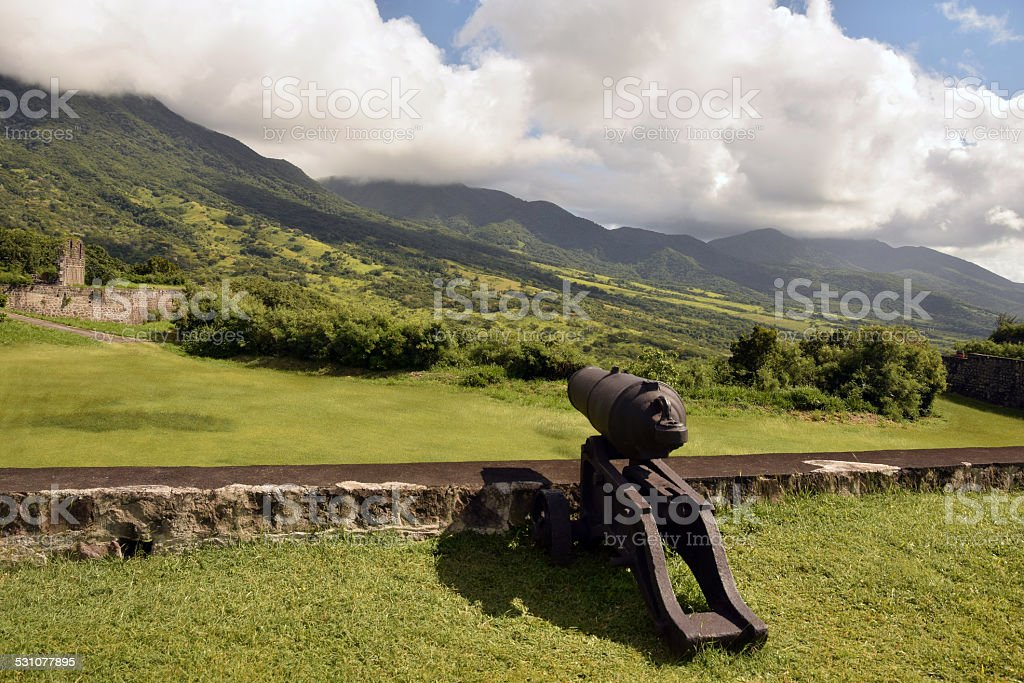Fort George in St Kitts stock photo