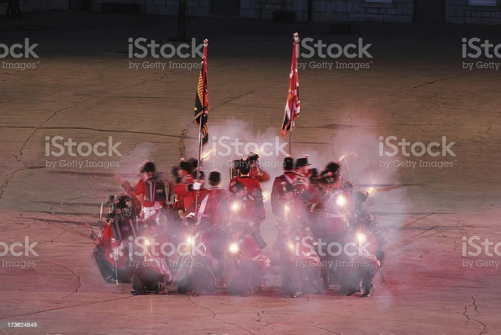 Fort Henry Firing Square royalty-free stock photo