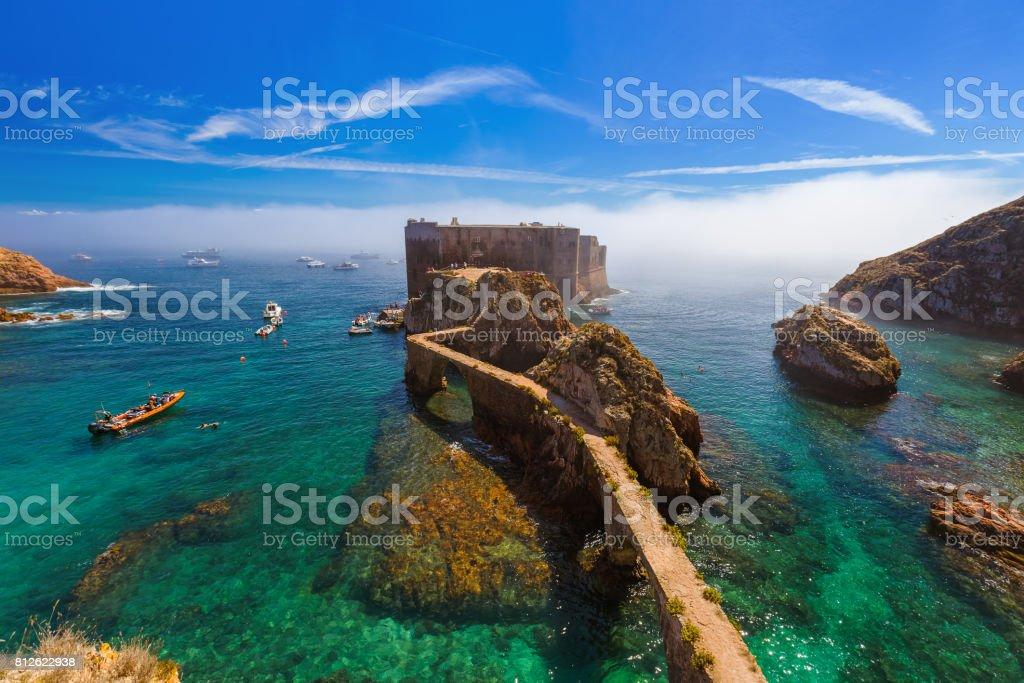 Forte na ilha da Berlenga - Portugal - foto de acervo