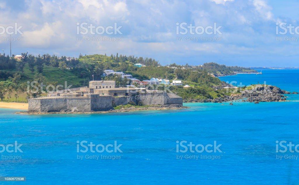 Fort in Bermuda stock photo