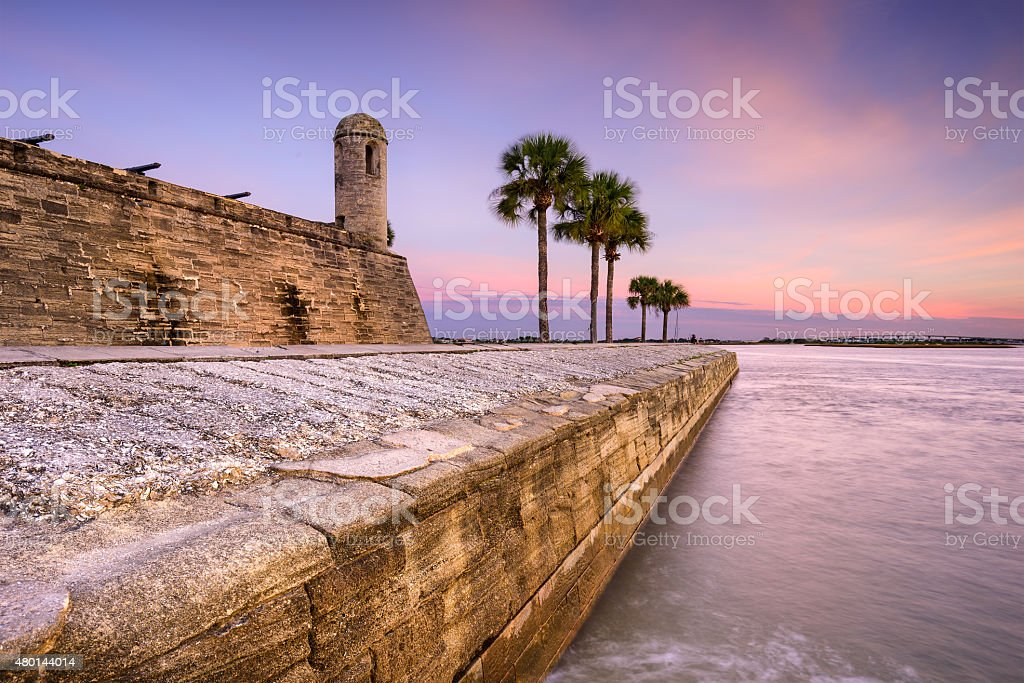 Fort in St. Augustine stock photo