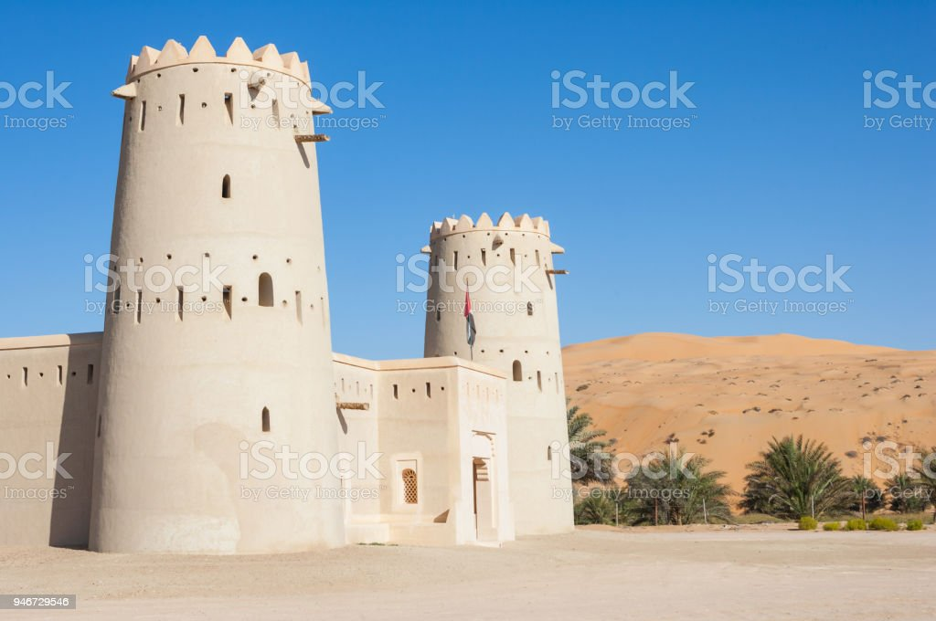 A Fort in the Liwa Crescent area of the UAE stock photo