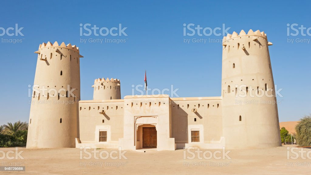 Fort in the Liwa Crescent area of the UAE stock photo