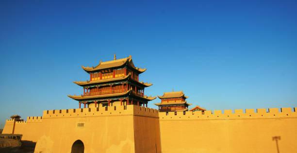 fort jiayuguan av stora väggen, kina - chinese military bildbanksfoton och bilder