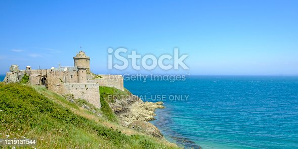 istock Fort la Latte or Castle of the Rock Goyon on the northeast coast of Brittany, France 1219131544