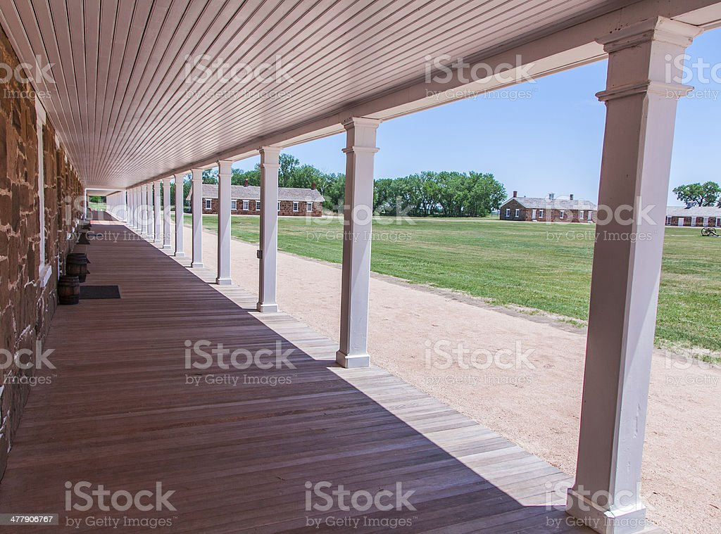 Fort Larned National Historic Site stock photo