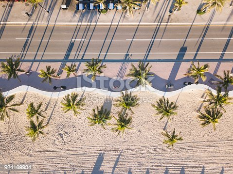 istock Fort Lauderdale Beach at sunrise from drone point of view 924169934