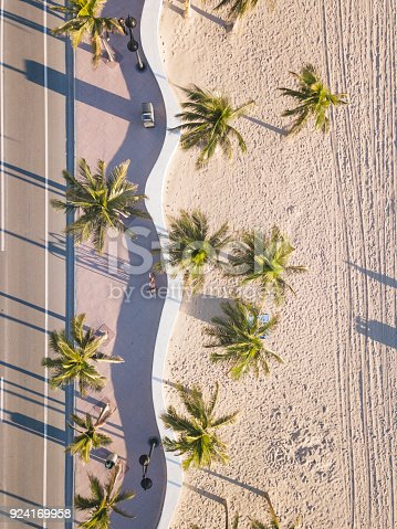 istock Fort Lauderdale Beach at sunrise from drone point of view 924169958