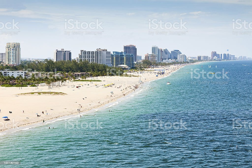 Fort Lauderdale Beach, Florida stock photo